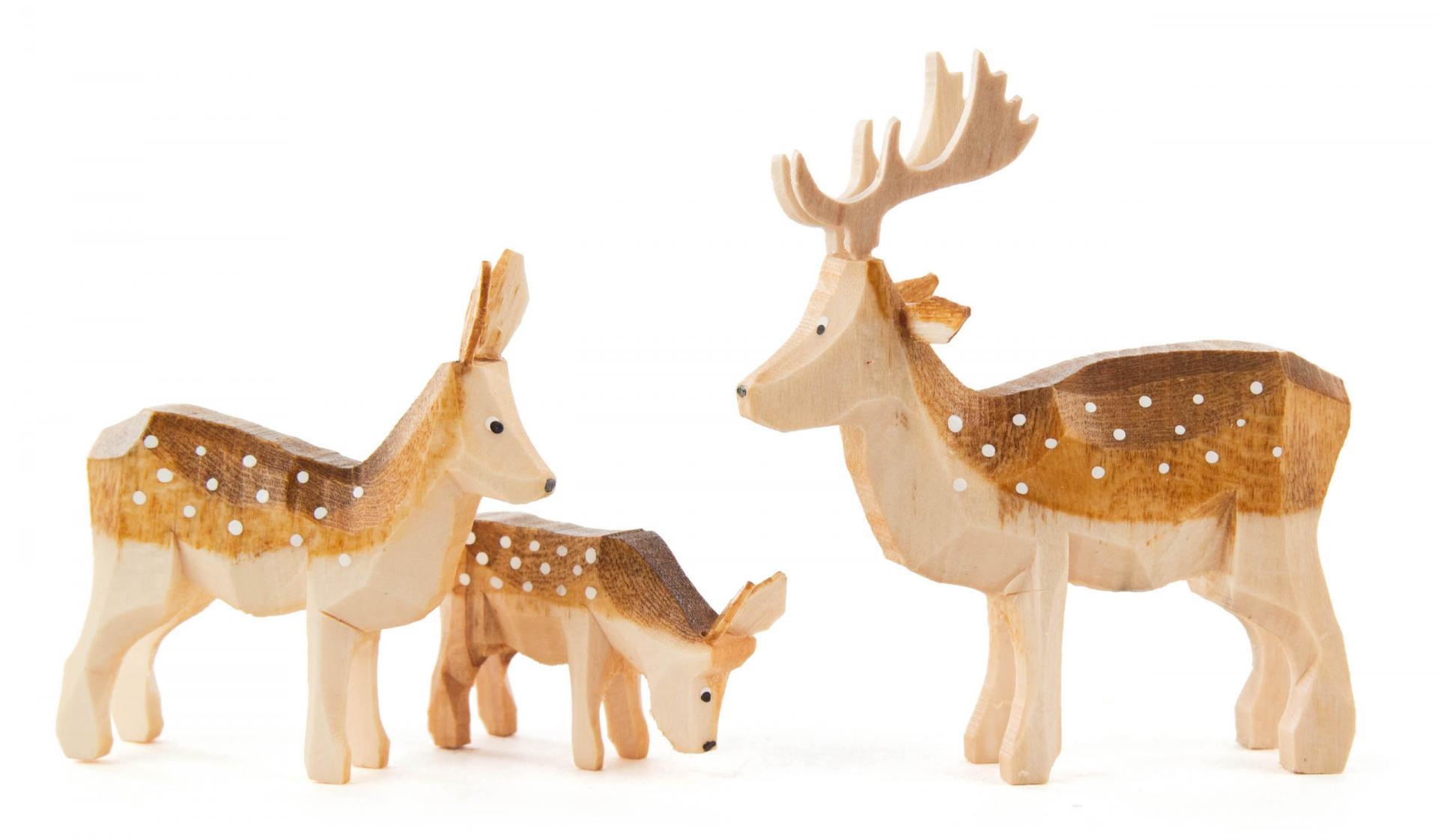 Fallow Deer family - 3 piece