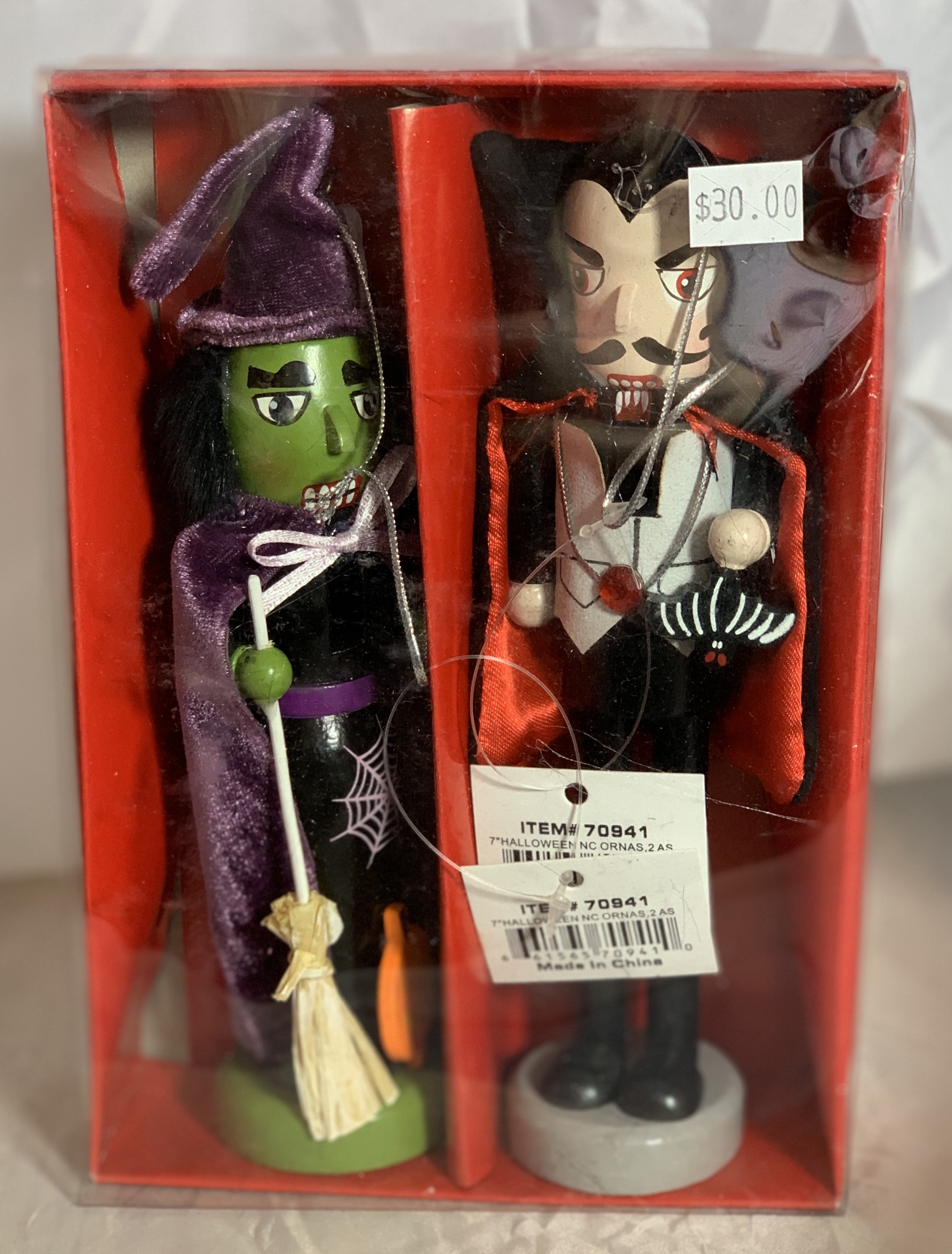 Halloween nutcracker ornament box set
