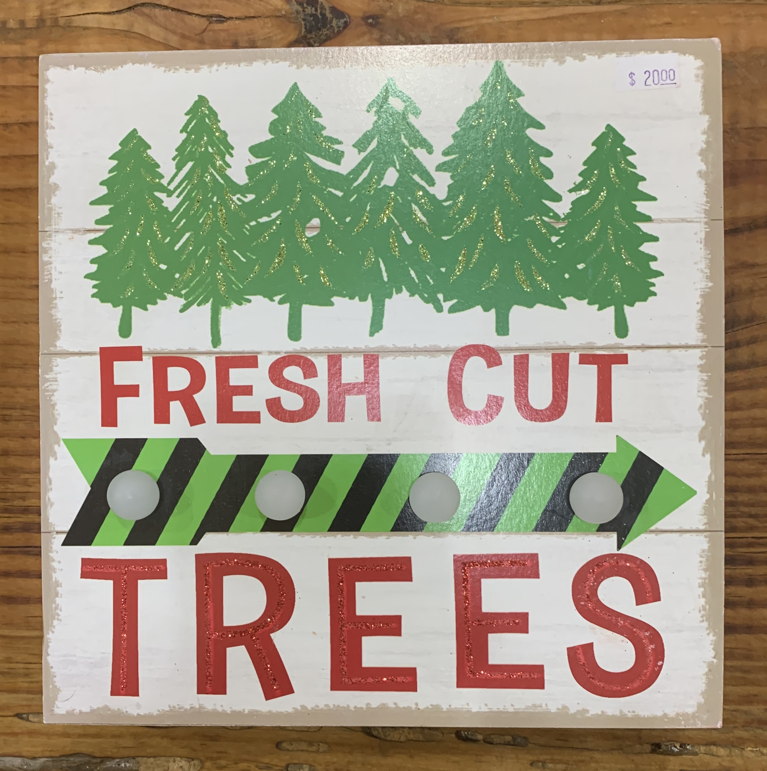 Fresh Cut TREES box light-up sign