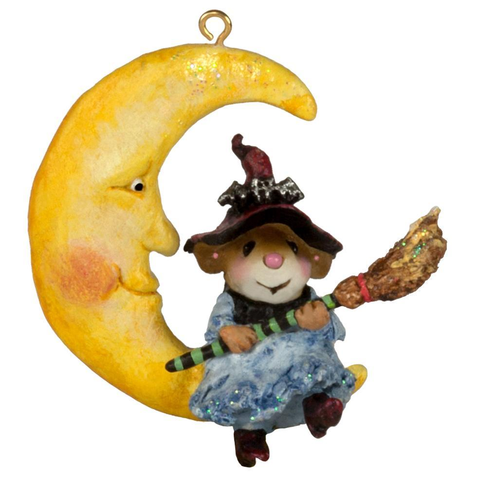 Broom to the Moon! ornament