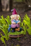 Crazy Cat lady Garden Gnome