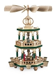 Pyramid Christmas Story, 2-TIER, Hand-Painted