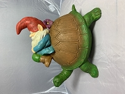 Sleeping Gnome riding a Turtle