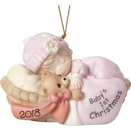 2018 dated Precious Moment Baby Girl ornament
