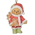 Santa Teddy Ornament