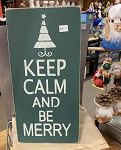 Be Merry wood sign