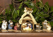 Wee Forest Folk Christmas Pageant 8 piece set