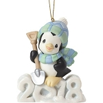 2018 dated Precious Moments animal ornament
